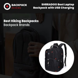 SHRRADOO Best Laptop Backpack with USB Charging